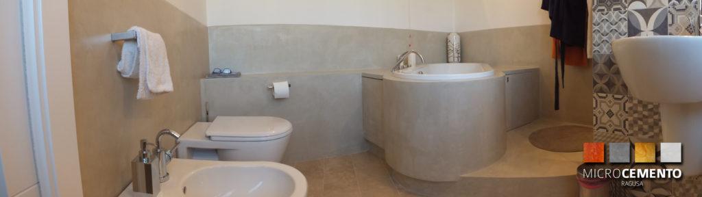risttrutturazione di un bagno in MicroCemento