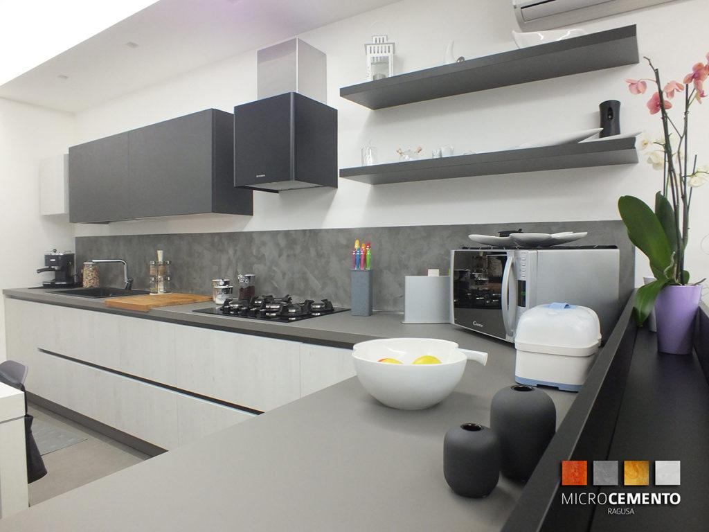 Micro cemento micro color plata de reformas de diseo - Cucine in cemento ...